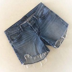 Guess Distressed Denim Cut-Off Shorts, Size 26